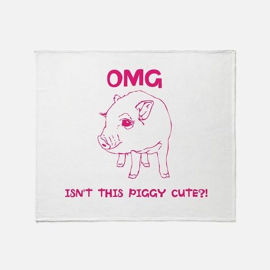 Cute Piggy Throw Blanket
