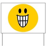 Grinning Smiley Yard Sign