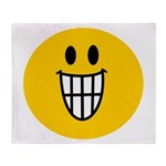 Grinning Smiley Throw Blanket