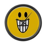 Grinning Smiley Large Wall Clock