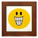 Grinning Smiley Framed Tile