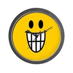 Grinning Smiley Wall Clock