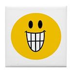 Grinning Smiley Tile Coaster