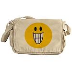 Grinning Smiley Messenger Bag