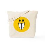 Grinning Smiley Tote Bag