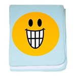 Grinning Smiley baby blanket