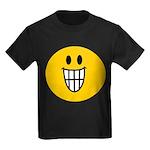 Grinning Smiley Kids Dark T-Shirt