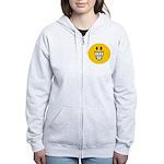 Grinning Smiley Women's Zip Hoodie