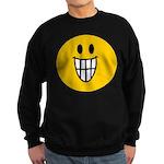 Grinning Smiley Sweatshirt (dark)