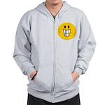 Grinning Smiley Zip Hoodie