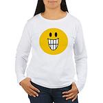 Grinning Smiley Women's Long Sleeve T-Shirt