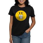 Grinning Smiley Women's Dark T-Shirt