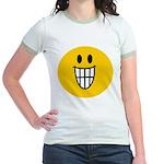 Grinning Smiley Jr. Ringer T-Shirt