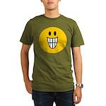 Grinning Smiley Organic Men's T-Shirt (dark)