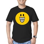 Grinning Smiley Men's Fitted T-Shirt (dark)