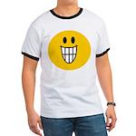 Grinning Smiley Ringer T