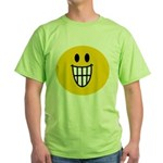 Grinning Smiley Green T-Shirt