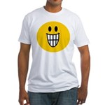 Grinning Smiley Fitted T-Shirt
