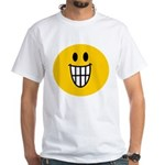 Grinning Smiley White T-Shirt