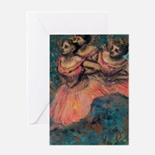 Degas - 3 in Red Greeting Card