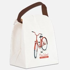 Red Bike Fire Island Canvas Lunch Bag