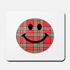 Scottish Tartan Smiley Mousepad