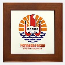 """French Polynesia COA"" Framed Tile"