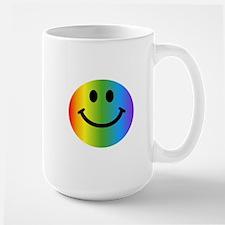 Rainbow Smiley Large Mug