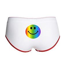 Rainbow Smiley Women's Boy Brief