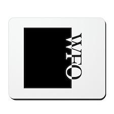 WFO Typography Mousepad