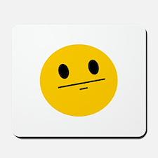 Poker Face Smiley Mousepad