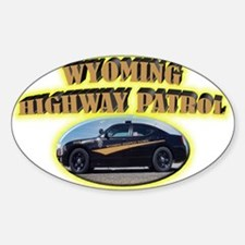 Wyoming Highway Patrol Sticker (Oval)