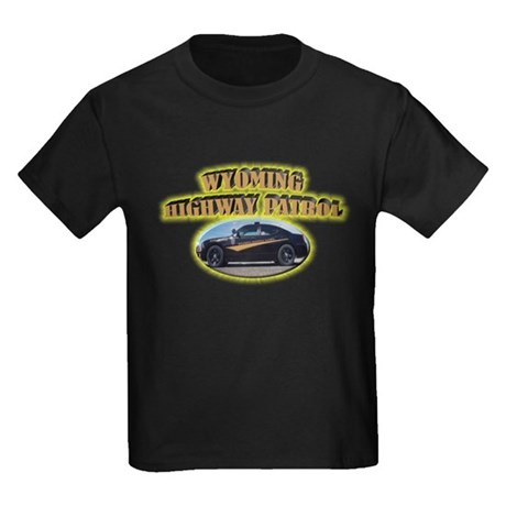 Wyoming Highway Patrol Kids Dark T-Shirt