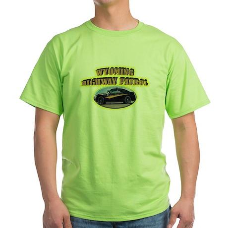 Wyoming Highway Patrol Green T-Shirt