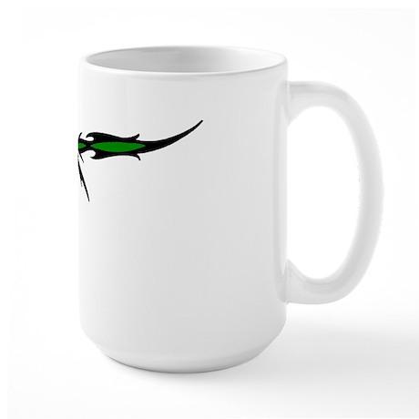 Simple Tribal Marijuana Large Mug