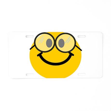 Geek Smiley Aluminum License Plate