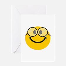 Geek Smiley Greeting Card