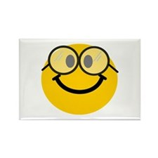 Geek Smiley Rectangle Magnet