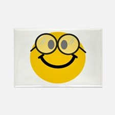 Geek Smiley Rectangle Magnet