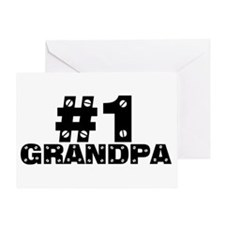 #1 Grandpa Greeting Card