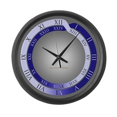 24-hour Roman numeral Large Wall Clock