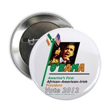 """O'Bama Af-Am-Ire 2.25"""" Button (10 pack)"""