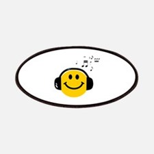 Music Loving Smiley Patches