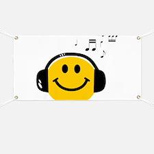 Music Loving Smiley Banner