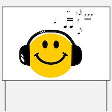 Music Loving Smiley Yard Sign