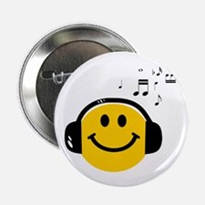"""Music Loving Smiley 2.25"""" Button (10 pack)"""