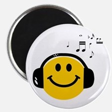 Music Loving Smiley Magnet