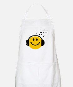 Music Loving Smiley Apron