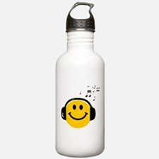 Music Loving Smiley Sports Water Bottle