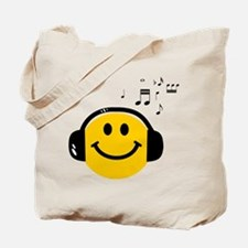 Music Loving Smiley Tote Bag